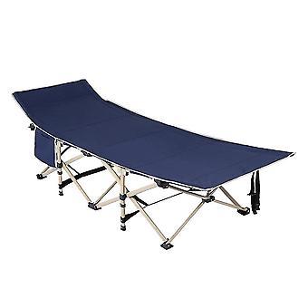 multi-funksjonell firkantet tube 10 fot sammenleggbar seng (med sidelommer) marineblå