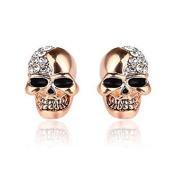 White Crystal Skull Stud Earrings For Women(COLOR2)