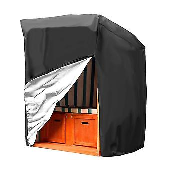 Hamaca Swing Cover, impermeables cubiertas de muebles de jardín al aire libre (negro)