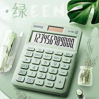 12-numeroinen työpöytä aurinkolaskuri suuret painikkeet Talousliiketoiminnan kirjanpitotyökalu Isot painikkeet (vihreä)