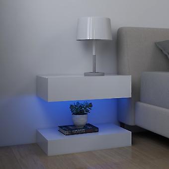 vidaXL LED nattbord 2 stk. hvit 60x35 cm sponplater