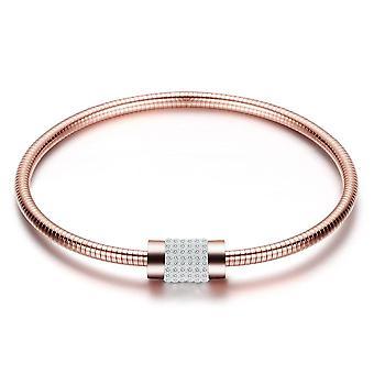 Lujoso brazalete pave incrustado con cristales de Swarovski - Rose