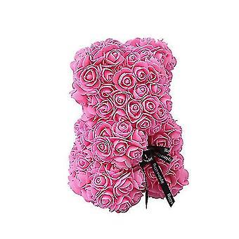 Valentine's day gift 25 cm rose bear birthday gift£? memory day gift teddy bear(Pink)