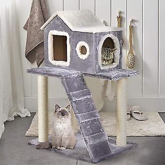 Kočičí stromový dům a škrabací sloupek