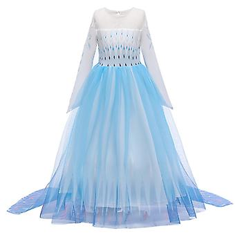 Christmas Girls Dress Party Vestidos Kids Clothing Elsa Costume Dress Snow Queen Anna Elza 2 Cosplay Dresses Ball Gown