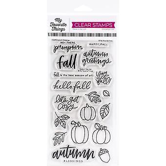 """Minhas coisas favoritas selos claros 4""""X8"""" - Bênçãos de Outono"""