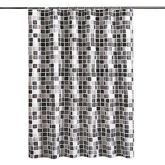 Bathroom Shower Curtain Hotel Quality Waterproof Washable(150x180)(Black)