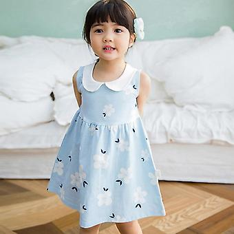 Sleeveless Floral Printed Pure Cotton Dress