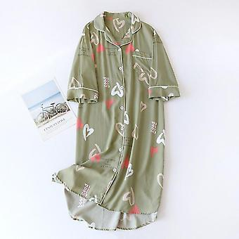 Spring And Summer New Sleeve Nightgown Ladies Viscose Cardigan Skirt S