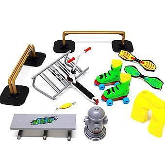 Ein Set von Mini Scooter / Griffbrett Set für Kinder ist geeignet für Jungen / Mädchen Geburtstagsgeschenke