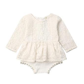 Nou-născut Baby Sleeveless /long Sleeve Lace Romper Jumpsuit Tutu Dress Outfits