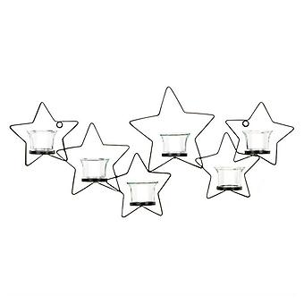 גלריה של כוכב ברזל בהיר מחזיק נרות קיר, חבילה של 1