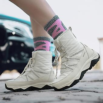 Fashion Men's Tall Boots Winter Warm High Top Snow Boots Waterproof Non-slip Trekking Shoes Casual Outdoor Hiking Shoes