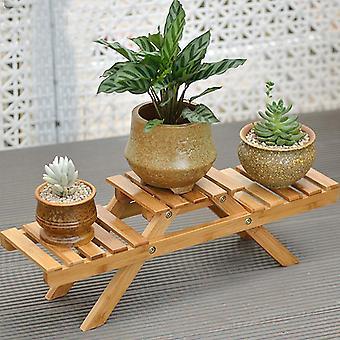 Massivholzboden Mehrschicht faltendes Blumenregal mit Werkzeugen Lack Oberflächenhalter & Racks