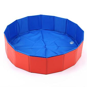 Pet Equipment Foldable Swimming Pool, Easy To Clean, Durable And Convenient (red)