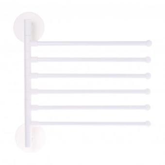 Wall Mount Punch Free Adhesive Bathroom Towel Holder Hanger Shelf Rack Cabinet Organizer Door Hanging Holder Organizer Stand White 5 Layer