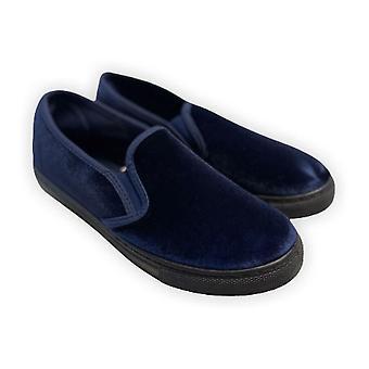 Velvet Slip-on Loafers - Marineblau(3)