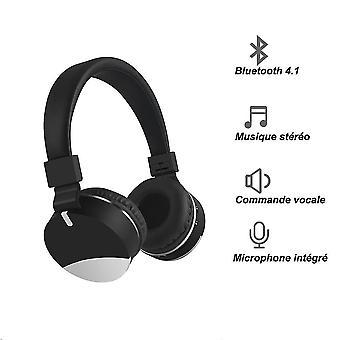 Kids Wireless Headphone Flodable(Black)