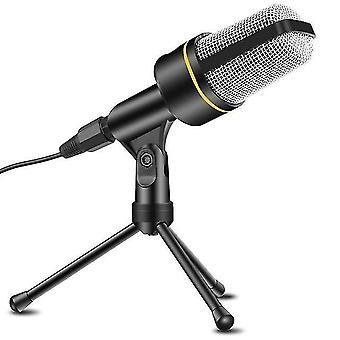 Kondensatormikrofon professionelles Aufnahmemikrofon mit Stativständer für Rundfunk, Chat, Video