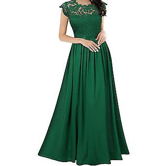 Dámské dlouhé formální šaty krajkové šifonové šaty svatební družička party šaty