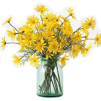 10 pezzi di fiori di margherita artificiale fiori accordi per hotel home office wedding party garden artigianato bianco