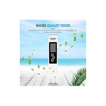 3 In 1 Ph Tester Ph Meter Professional Tds Ec Meter Digital LCD Wasserteststift Reinheitsfilter Wasserqualität Monitor 30% Off White