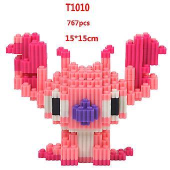 Vaaleanpunainen pystykorva ompele lasten koulutuskehitys älykkyys lelu muovi timantti pieni hiukkasten rakennuspalikat 3D kokoonpano malli
