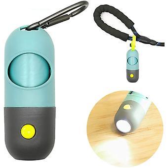 Собачьи фекалии Пикап Сумки Диспенсер со светодиодной вспышкой для выгула домашних животных на открытом воздухе