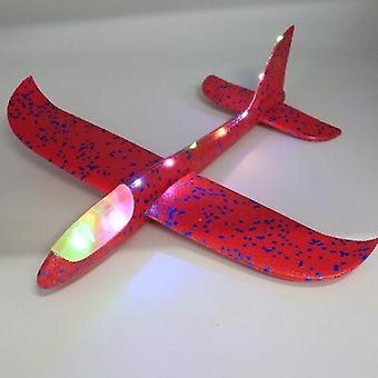 Led Light Flying Glider pentru copii handmade jucărie spuma Wing Meserii miniaturale avion Scară Model Dimensiune (roșu)