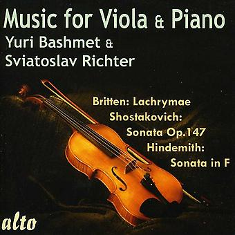 Yuri Bashmet & Sviatoslav Richter - musique pour alto & Piano [CD] USA import