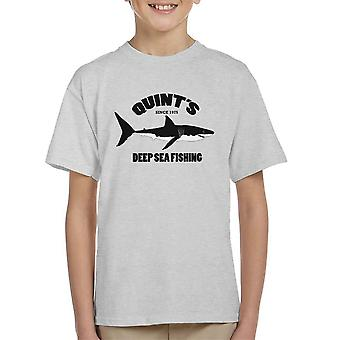 Camiseta de quíntuples Mar Pesca mordazas infantil