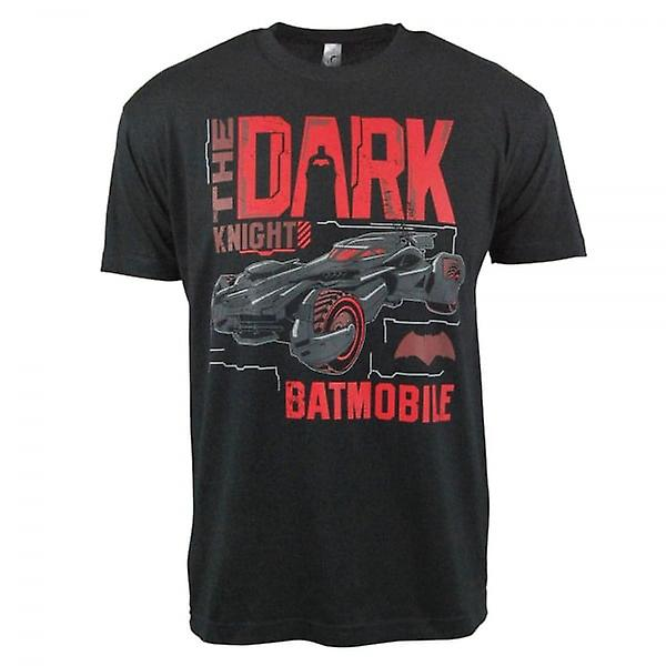 Mens de Batman Batman Dark Knight Batmobile T-Shirt noir