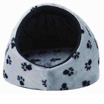 Snooza Igloo silver/black paws small