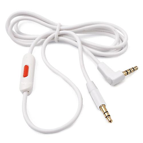 REYTID Replacement White Audio Cable Compatible with Beats Solo2 / HD Headphones w/ Remote Talk Compatible with iPhone and Android