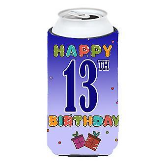 Glad 13 födelsedag lång pojke dryck isolator Hugger