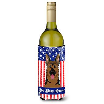 German Shepherd Wine Bottle beverage Insulator Hugger