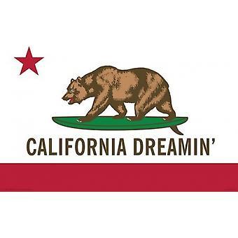 California Dreamin - impresión del cartel de cartel de la bandera