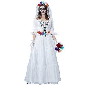 ラ ノビア Muerta デラックス幽霊花嫁日死んだメキシコ女性コスチューム
