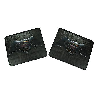 Set of 2 DC Comics Batman Vs Superman Plasticlear Utility Mats