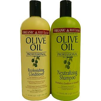 Organic Root Stimulator Olive Oil Neutralizing Shampoo & Conditioner