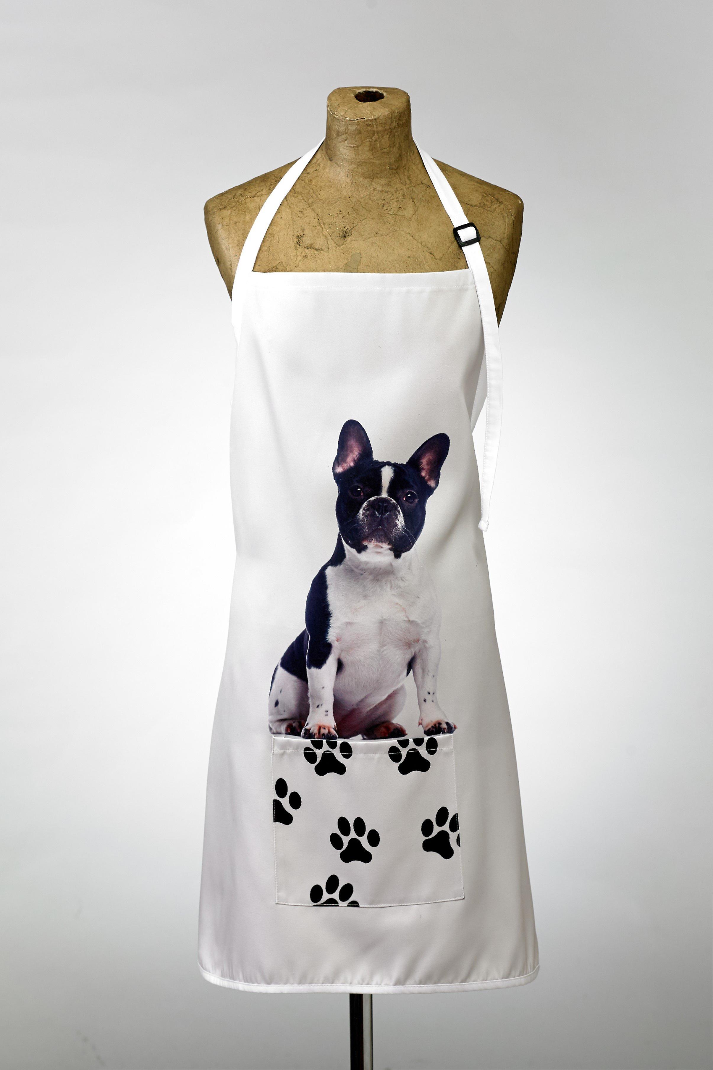 Adorable french bulldog design apron