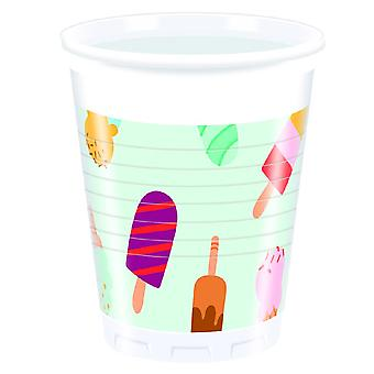 Ice cream ice cream party Cup drinking cups 200ml 8 piece children birthday theme party