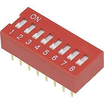 TRU COMPONENTS DSR-08 Interruttore DIP Numero di pin 8 Slide-type 1 pc(s)