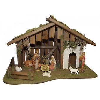Estable de pesebre Natividad Navidad nacimiento madera cuna CANAÁN