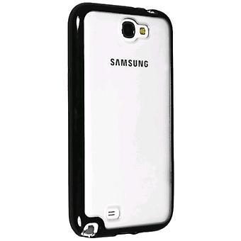 Technocel Hybrigel Case Cover for Samsung Galaxy Note II (Clear/Black) - SAGN2HGCLBK-Z