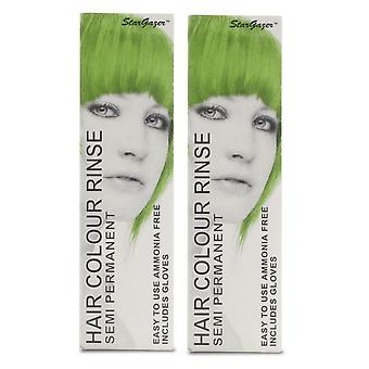 Stargazer puolipysyvät hiusten väri värjäykseen UV vihreä (2 kpl)