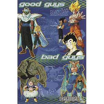 Dragon Ball Z poster good guys / bad guys collage