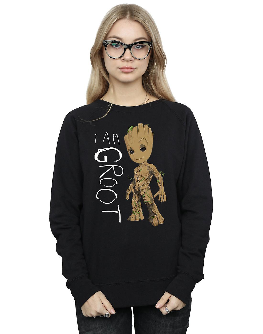 Marvel Women's Guardians Of The Galaxy I Am Groot Scribbles Sweatshirt