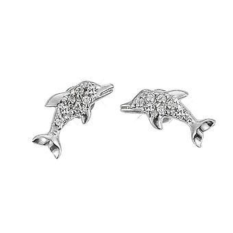 Scout barn örhängen silver delfiner glitterflicka 262141100