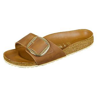 Birkenstock Madrid Big Buckle Cognac piele naturală 1006525 pantofi universale pentru femei de vară